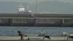 Cargo Ship Traffic in Kiel 3 Stock Footage