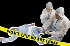 Crime scene - stock photo