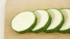 Zucchini, courgette Stock Footage