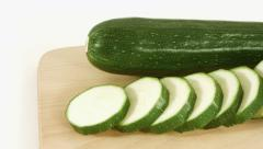 Courgette Stock Footage