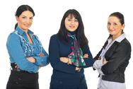 Stock Photo of Row of three business women