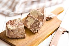 pieces of tasty halva - stock photo
