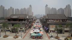 Tianjin ancient cultural street /tianjin Stock Footage