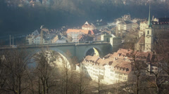 City of Bern, Panoramic View Stock Footage