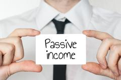 Stock Photo of passive income concept