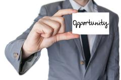 holding an opportunity - stock photo