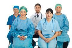Doctors at seminar - stock photo