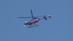 News helicopter hovering Stock Footage