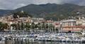 UltraHD 4K UHD Sanremo Skyline San Remo Italian Luxury Boats Sailing Ships Yacht Footage