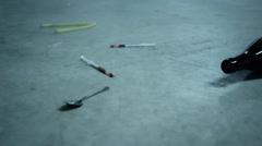 Stock Video Footage of heroin overdose scene