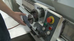 CNC lathe controls Stock Footage