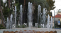 Sanremo San Remo Sign Welcome Tourist Attraction Fountain Cars Italian Riviera HD Footage