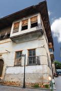 wooden house in old antalya. - stock photo