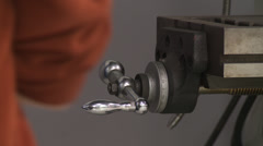 Milling machine handle Stock Footage