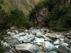 urubamba river - stock photo