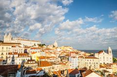 Alfama in lisbon, portugal Stock Photos