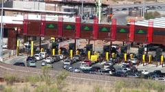 Mexico - Arizona Mariposa Port of Entry at Nogales - stock footage