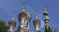 Russian Orthodox Church Sanremo San Remo Religious Cathedral Cupola Dome Crosses HD Footage