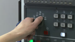 CNC lathe screen Stock Footage