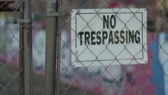 No Trespassing Vacant Lot - stock footage