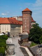 wawel castle in cracow - stock photo