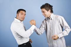 Business men confrontation - stock photo