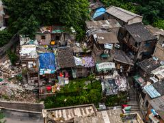 chinese slum - stock photo