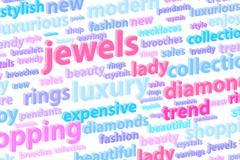 Precious Jewels Word Cloud Stock Illustration