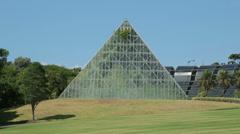 Sydney botanical gardens tropical glasshouse Stock Footage