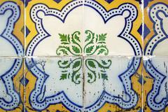 azulejos, portuguese tiles - stock photo