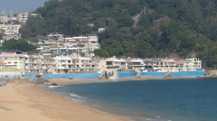 Cheung Chau island Tong Wan beach Hong Kong China Asia Stock Footage