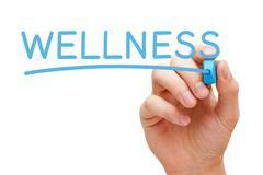 Stock Illustration of wellness blue marker