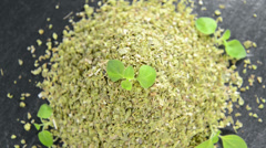 Portion of dry oregano (loopable) Stock Footage