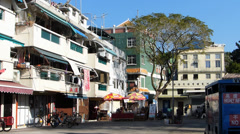 Cheung Chau island street scene Hong Kong China Asia Stock Footage
