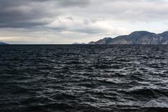 stormy seaside - black sea - stock photo