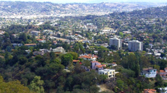 Griffith Park View Of Eastern Hollywood Hills- Los Angeles CA Stock Footage