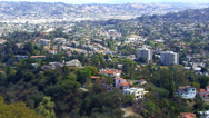 Stock Video Footage of Griffith Park View Of Eastern Hollywood Hills- Los Angeles CA