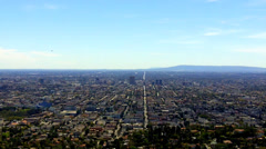 High Wide View Of Los Angeles City Metro Urban Area Stock Footage
