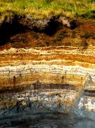 Sedimentary layers Stock Photos