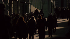 street in sepia tones 4 - stock footage