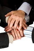 Human hands unity Stock Photos
