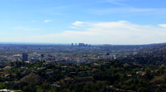Westward View Across Hollywood District To Beverly Hills California Stock Footage