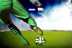 Soccer goalkeeper - stock illustration