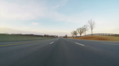 Speeding at 150 MPH on North I 65 Late Afternoon UHD - stock footage