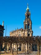 dresdner cathedral - hofkirche - stock photo