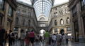 Naples Galleria Umberto Shopping Center Busy People Buying Famous Brand Clothes HD Footage