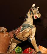 Decorative Painted Horse Statue - stock photo