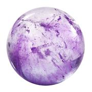 Amethyst sphere isolated Stock Photos