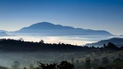 Majestic mountains landscape Stock Photos