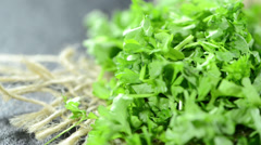 Heap of parsley (not loopable) Stock Footage